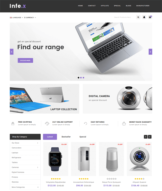18 of the Best OpenCart Themes for Selling Electronics