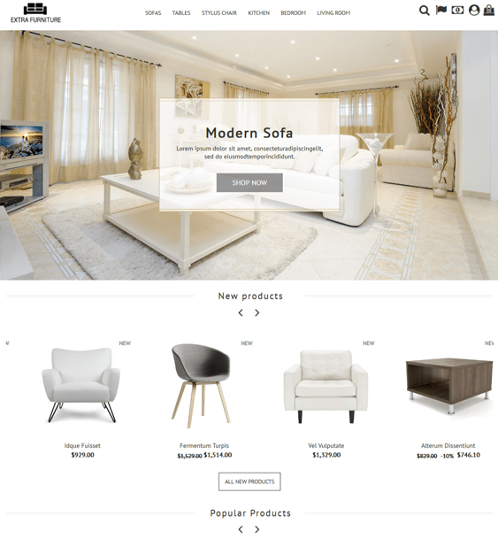 best prestashop themes for furniture stores feature