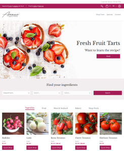 best shopify themes food groceries feature