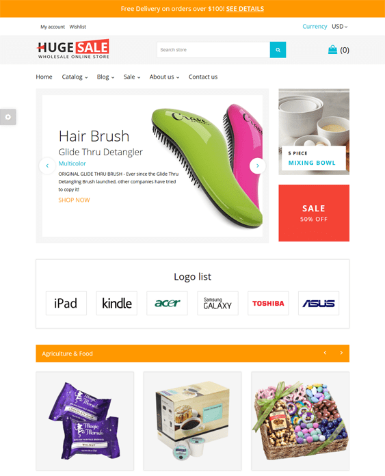 wholesale store shopify themes
