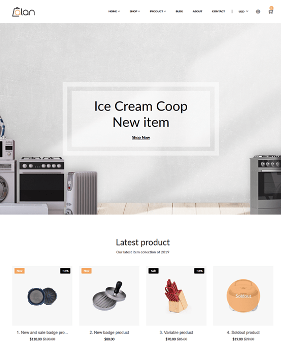 shopify themes for selling kitchen supplies like bakeware cakeware dinnerware