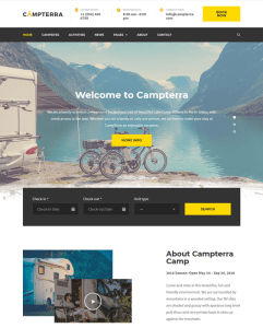 best wordpress themes for outdoor activities like hiking camping feature