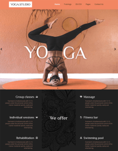best joomla templates yoga studios teachers feature