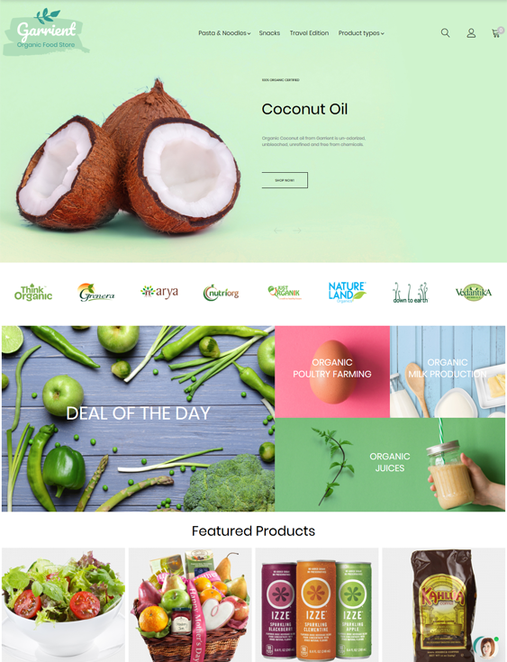 best magento themes for selling food and spices feature