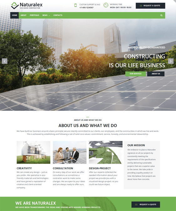wordpress themes construction companies building contractors