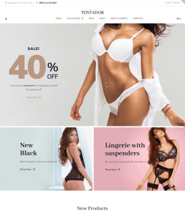 best lingerie woocommerce themes for selling bras underwear feature
