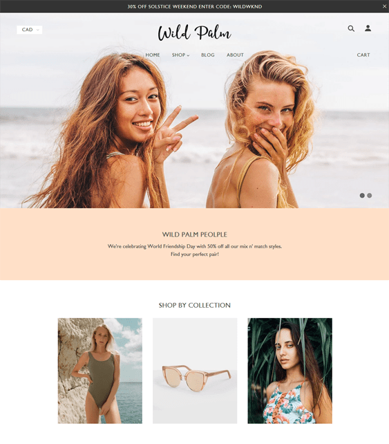 shopify themes for selling bikinis bathing suits swimwear