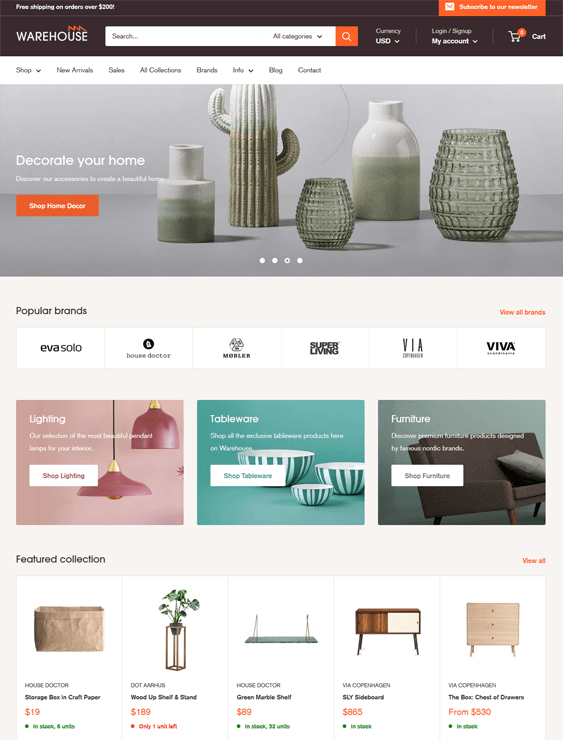 8 Of The Best Interior Design Home Decor Shopify Themes
