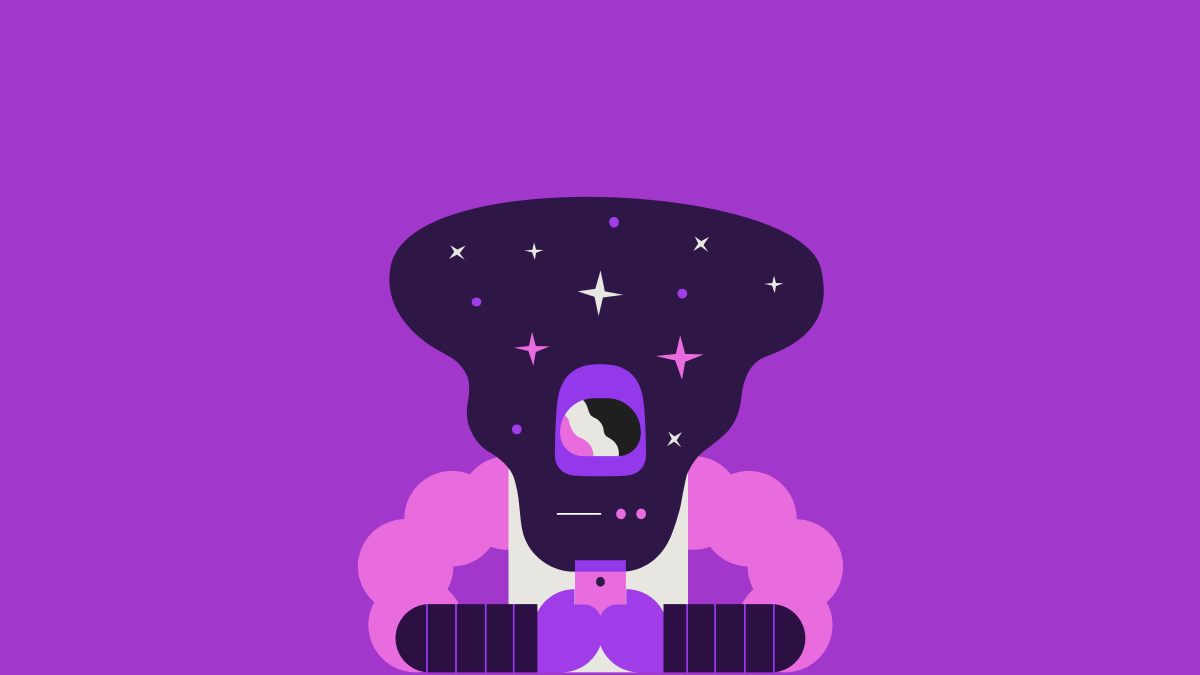 Drawing of an astronaut browsing their phone