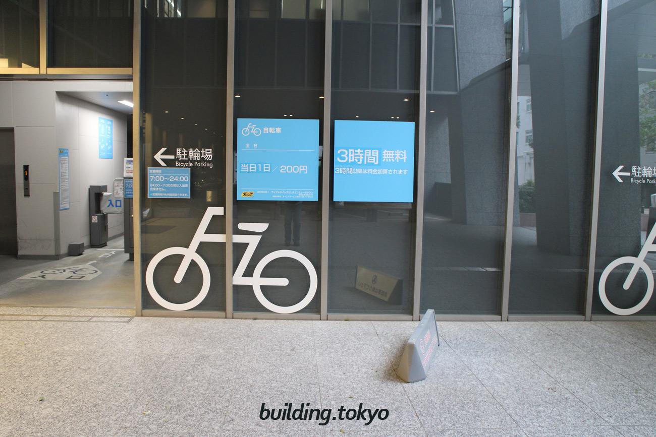 としまエコミューゼタウン,自転車駐輪場入り口の様子。