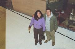 Mandi and Ian help with lofting