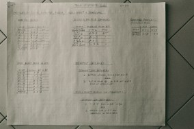 """2nd page of the """"Table of Offsets"""" records the grid dimensions, profile, and other parameters"""
