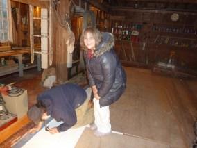 Linda supervises the grid layout