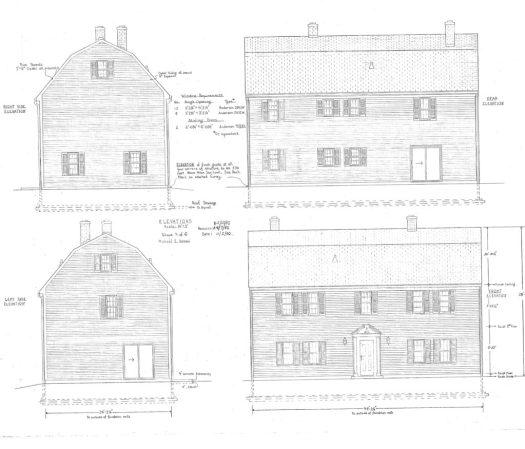 House plans I drew in 1980