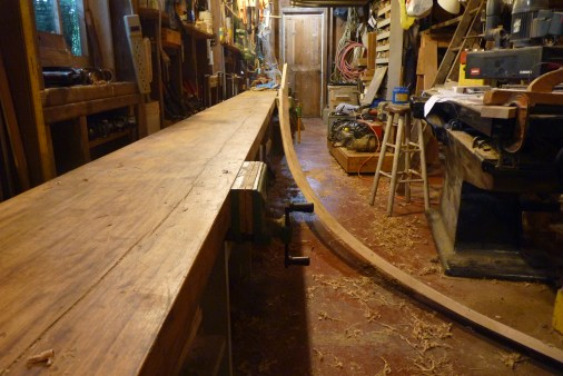 The top cuddy plank gets a scarph joint where it will mate with the forward end of the rail on the main deck.
