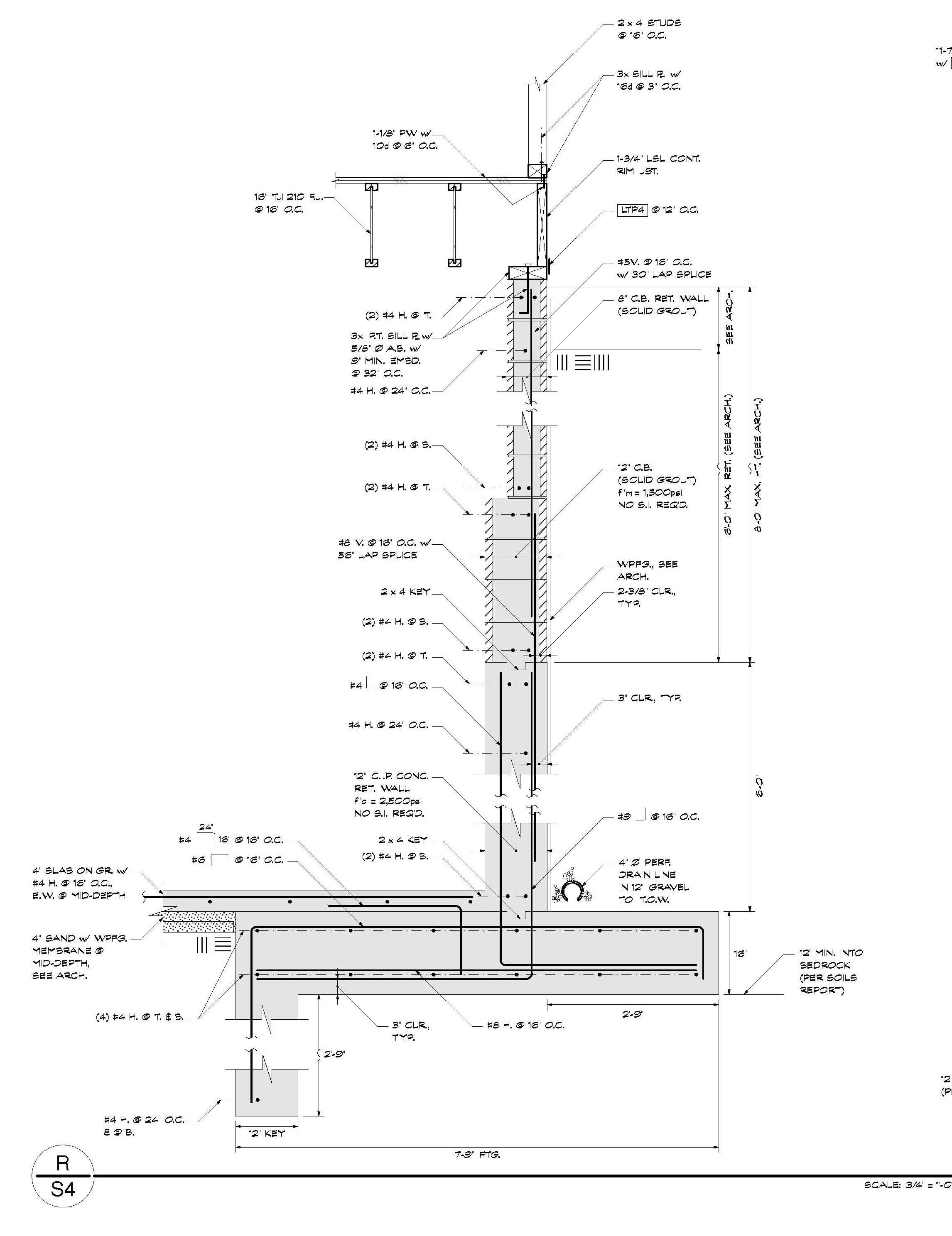 Foundation Rebar Splice Diagram