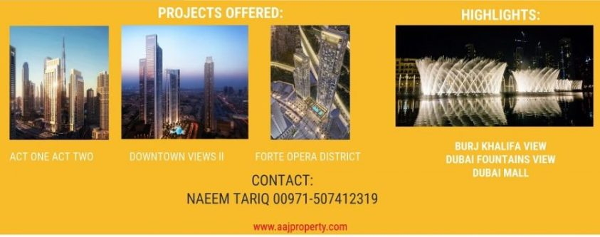 Act 1 Act 2 Towers Emaar Downtown Views Forte Opera District Dubai Apartment