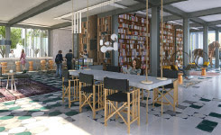With co-working spaces and library - Collective