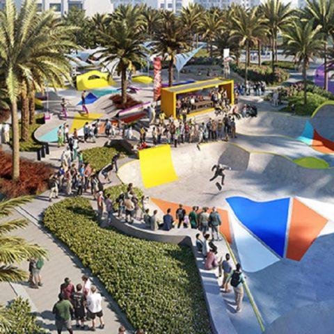 Skate Park at Dubai Hills Park