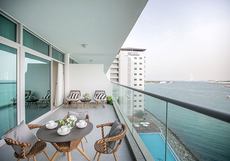 Azure Residences at Palm Jumeirah by Nakheel - Balcony