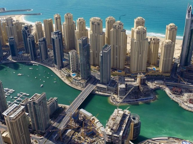 JBR - Jumeirah Beach Residences - in front of Dubai Marina