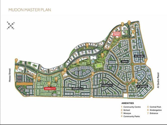 Arabella 3 at Mudon by Dubai Properties Master Plan