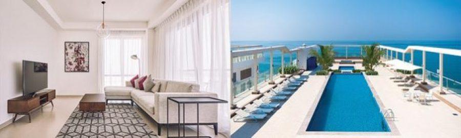 Pacific Al Marjan Island RAK Ras Al Khaimah Rent Apartment - interior and rooftop