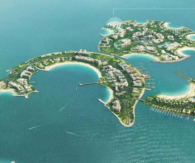 Pacific Al Marjan Island - RAK Ras Al Khaimah - UAE The Island Close-Up
