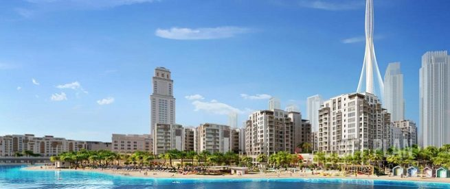Surf at Creek Beach by Emaar Beach- Featured