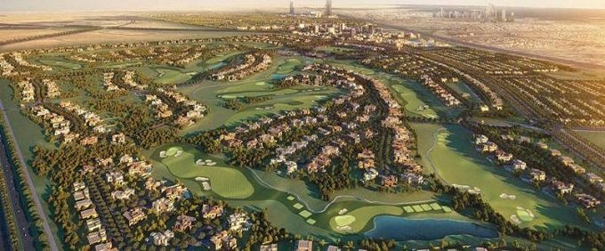 Emaar Golf Grove luxury villas with rooftop terrace