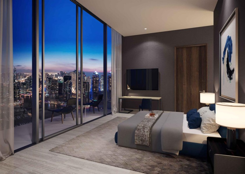 Jumeirah Living Marina Gate - Bedroom Night