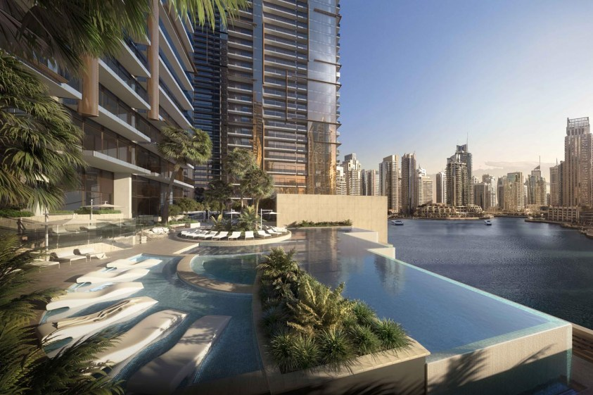 Jumeirah Living Marina Gate - Infinity swimming pool