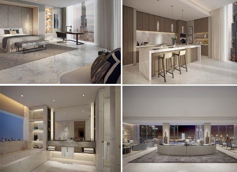 IL Primo Emaar Tower luxurious residential apartments downtown dubai burj khalifa interior