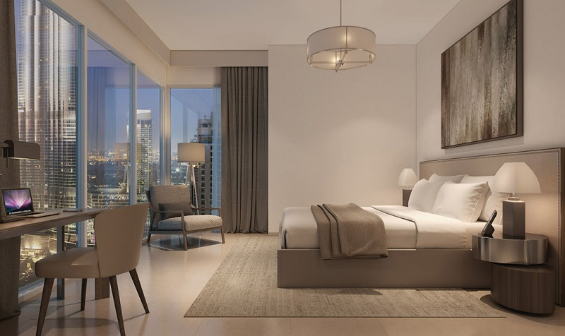 Act One Act Two in Downtown Dubai apartments by Emaar - bedroom