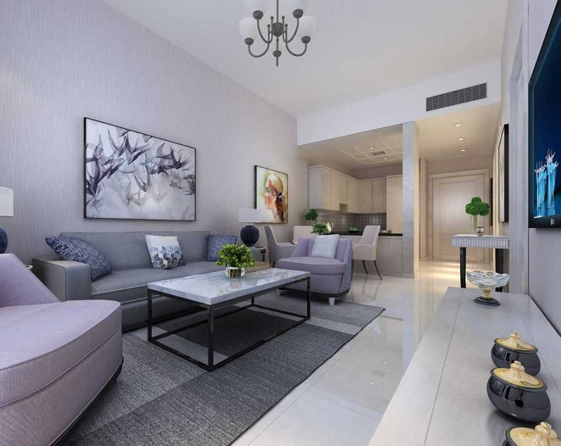 Lucky Residences JVC Living Room