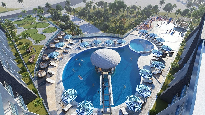 Samana Golf Avenue at Dubai Studio City DSC - Swimming Pool