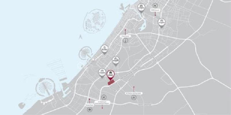 Tilal Al Ghaf - Lagoon Al Ghaf townhouses Dubai location