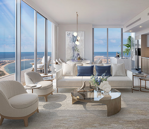 Beach Isle apartments Miami -inspired architecture