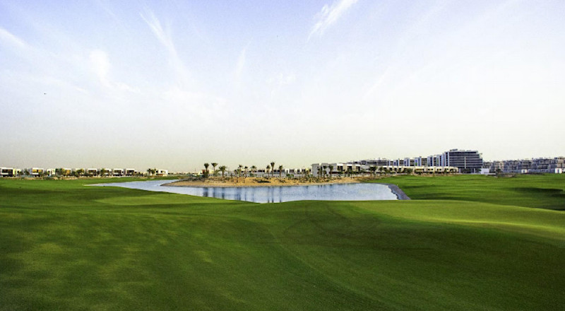 Canvas plots at Damac Hills facing golf course