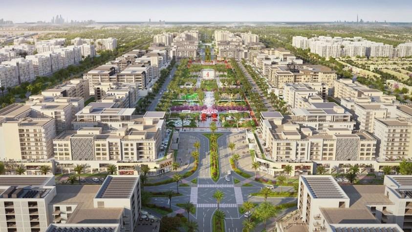 Nshama Town Square Dubai freehold properties townhouses villas apartments