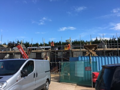 First floor scaffolding