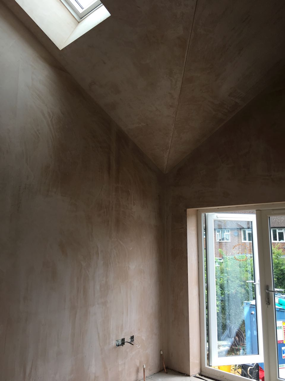 Bedroom plaster skimmed