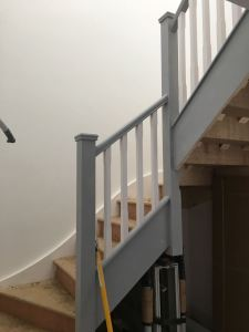Staircase painted