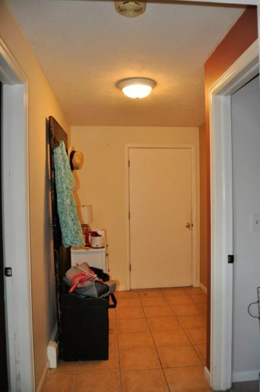 The mudroom before the makeover.