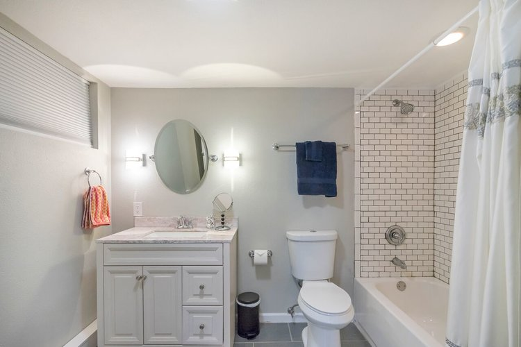 Finished basement bathroom renovation.