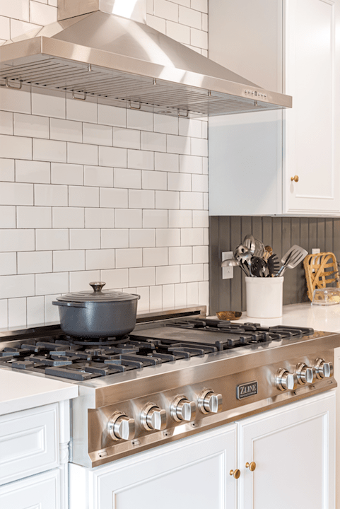 DIY subway tile kitchen backsplash
