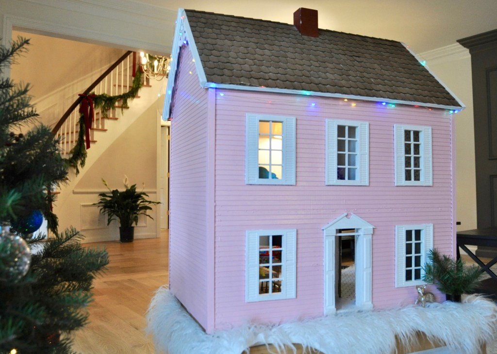 Freshly painted pink house