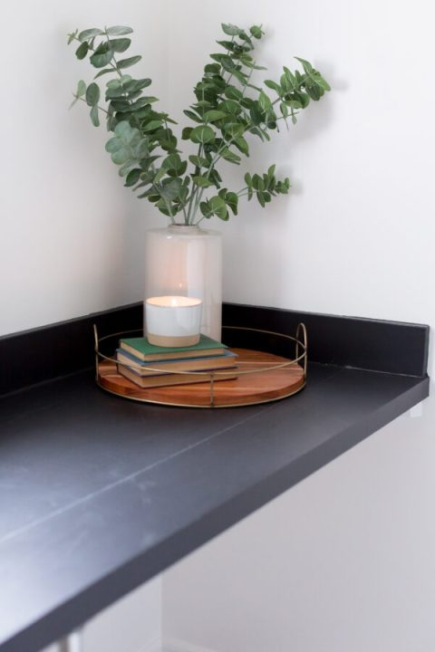 Cover your countertop with contact paper - affordable DIY