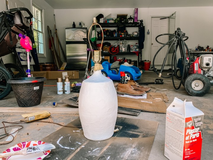 How to plaster a lamp