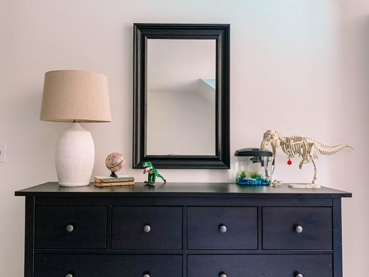Hemnes furniture for the boys bedroom makeover